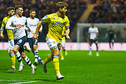 Gaetano Berardi of Leeds United (28) in action during the EFL Sky Bet Championship match between Preston North End and Leeds United at Deepdale, Preston, England on 9 April 2019.