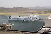 India, Rajasthan, Udaipur The luxurious Taj Lake palace hotel on Pichola Lake