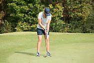 October 10, 2017 - Johnson City, Tennessee - Warren-Greene Golf Center: Jordann Handy<br /> <br /> Image Credit: Dakota Hamilton/ETSU