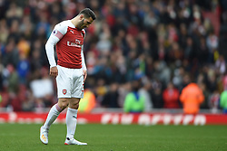 Arsenal's Sead Kolasinac shows dejection at full time