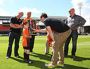 Six year old Ethan Cussack wins Stuart Armstrong's boots - Dundee United open day at Tannadice<br /> <br />  - Pictures © David Young