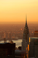 The Chrystler Building at sunrise in Manhattan.