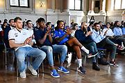 giocatori<br /> presentazioe supercoppa 2018<br /> Legabasket Serie A 2018/19<br /> Brescia, 24/09/2018<br /> Ciamillo-Castoria