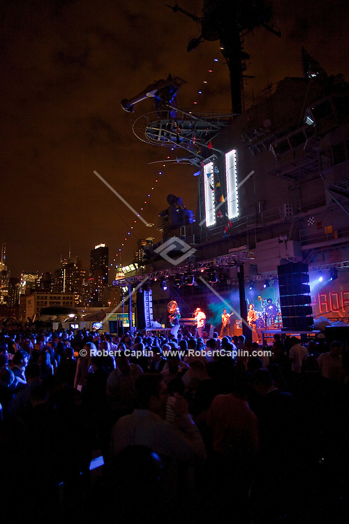 The Roots perform at the Wounded Warriors Gala at the Intrepid Sea, Air & Space Museum in New York. ..Photo by Robert Caplin.