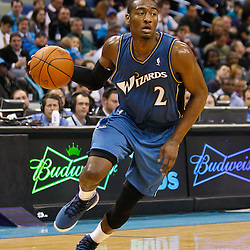 February 1, 2011; New Orleans, LA, USA; Washington Wizards point guard John Wall (2) against the New Orleans Hornets during the second half at the New Orleans Arena.   Mandatory Credit: Derick E. Hingle