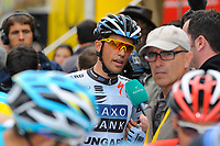 CYCLING - TOUR DE FRANCE 2011 - STAGE 8 - Aigurande > Super-Besse Sancy (189 km) - 07/07/2011 - PHOTO : JULIEN CROSNIER / DPPI - ALBERTO CONTADOR (ESP) / SAXO BANK SUNGARD