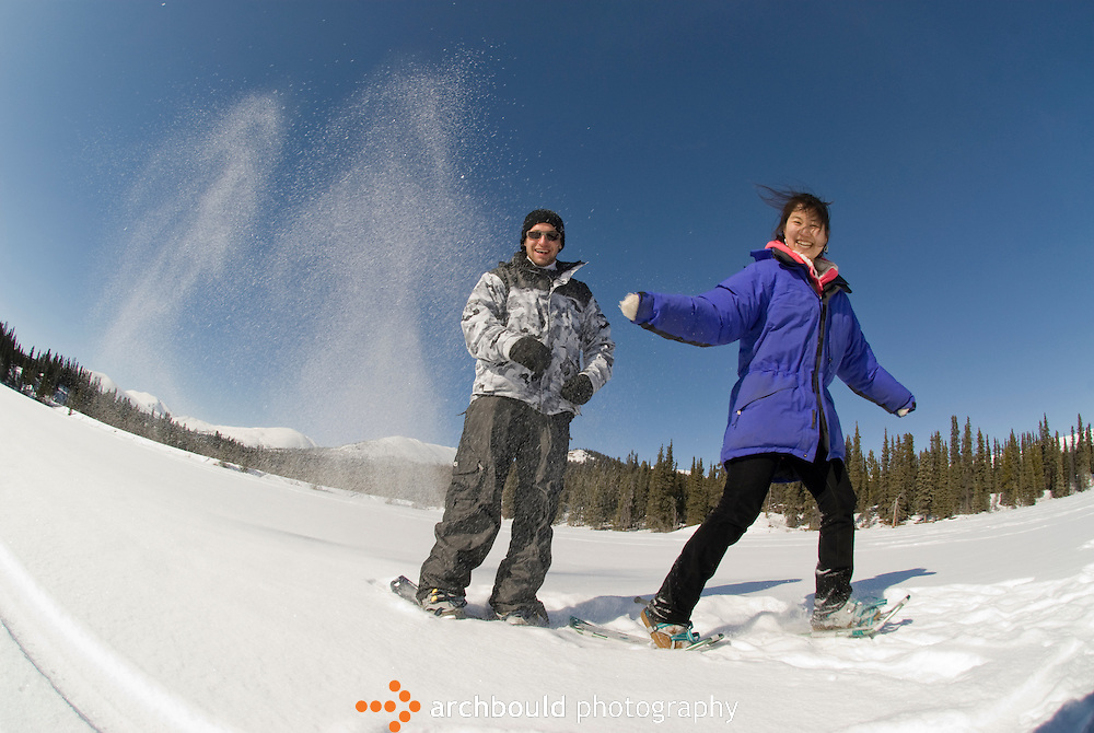 Snowshoeing in the Yukon