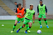 Forest Green Rovers Junior Mondal(25) warming up  during the EFL Sky Bet League 2 match between Port Vale and Forest Green Rovers at Vale Park, Burslem, England on 20 August 2019.