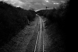Railway line, Great Central Railway, Rothley, Leicestershire, England.<br />