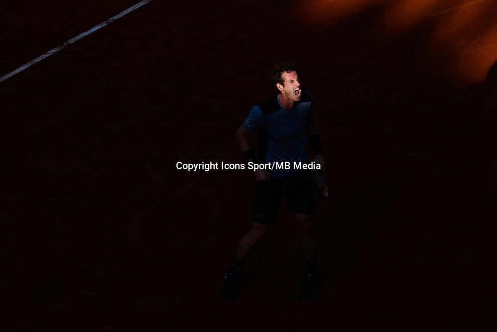 Joie Andy MURRAY - 03.05.2015 - Jour 11 - Roland Garros 2015<br />