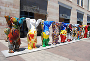 Israel, Jerusalem, a display of Buddy Bears statues in front of city hall