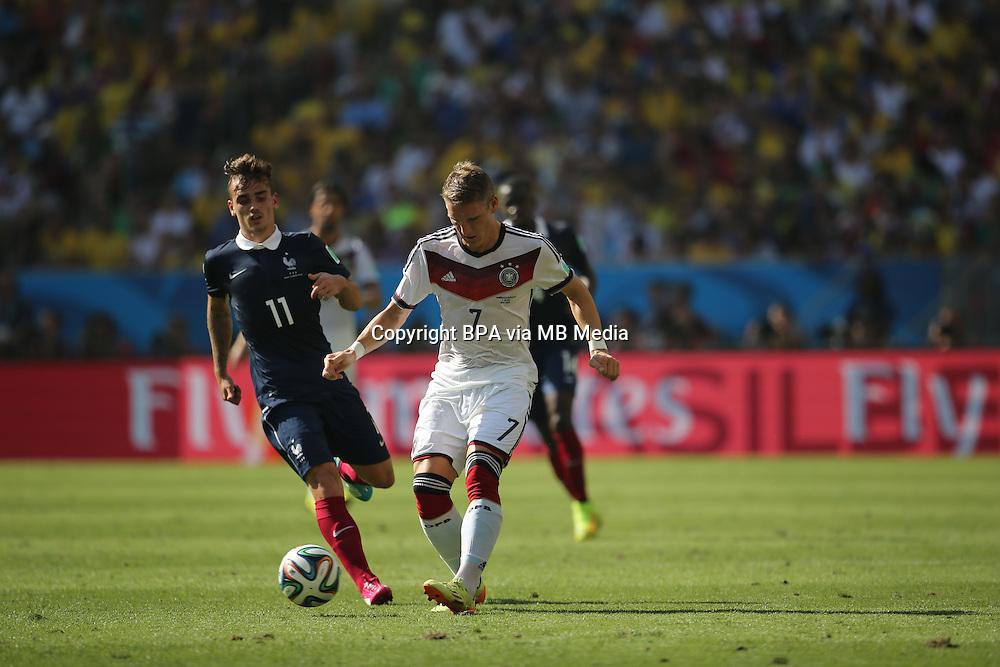 Bastian Schweinsteiger. France v Germany, quarter-final. FIFA World Cup Brazil 2014. 4 July 2014