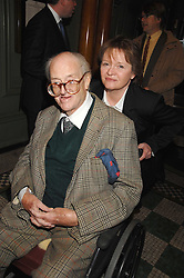 SIR JOHN & LADY MORTIMER at the 2008 Oldie of The year Awards and lunch held at Simpsons in The Strand, London on 11th March 2008.<br />
