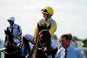 Allez Sophia ridden by Georgia Dobie and trained by Eve Johnson Houghton in the Visit Valuerater.Co.Uk Nursery Handicap race.  - Ryan Hiscott/JMP - 15/09/2019 - PR - Bath Racecourse - Bath, England - Race Meeting at Bath Racecourse
