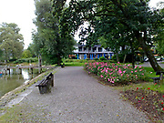 Diessen lake with rose garden