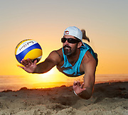 DiG Magazine - 2010 Fall Cover shoot for DiG Magazine. Portrait of professional beach volleyball and Olympic Gold medalist Todd Rogers.
