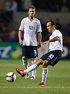 Landon Donovan (10) - Micheal Bradley (12). The U.S. Men's National Team defeated Trinidad & Tobago 3-0 at Toyota Park in Bridgeview, IL on September 10, 2008.