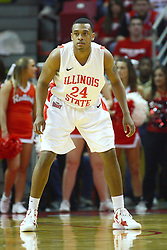 04 February 2012:  Zeke Upshaw during an NCAA Missouri Valley Conference mens basketball game where the Bradley Braves lost to the Illinois State Redbirds 78 - 48 in Redbird Arena, Normal IL