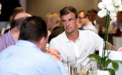 Aden Flint of Bristol City mingles with guests during the Lansdown Club event - Mandatory by-line: Robbie Stephenson/JMP - 06/09/2016 - GENERAL SPORT - Ashton Gate - Bristol, England - Lansdown Club -