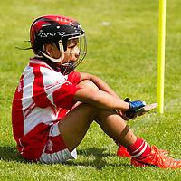 EireÓg Aramand Shannon taking a break while in goals during EireÓg Academy Under 10 Hurling and Football Blitz