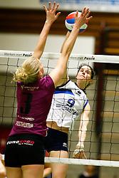 20150207 NED: Eredivisie Sliedrecht Sport - Eurosped TVT, Sliedrecht<br />Mariska Koster (9) of Sliedrecht Sport<br />©2014-FotoHoogendoorn.nl / Pim Waslander