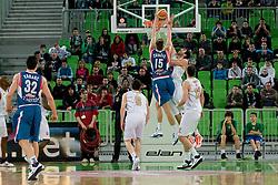 Tomislav Zubcic of Cibona vs Giorgi Shermadini of KK Union Olimpija during basketball match between KK Union Olimpija and Cibona in 17th round of NLB league in Arena Stozice on January 15, 2011 in SRC Stozice, Ljubljana, Slovenia (Photo By Matic Klansek Velej / Sportida.com)