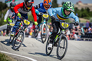 9 Boys #83 (BEEUSAERT Niels) BEL at the 2018 UCI BMX World Championships in Baku, Azerbaijan.