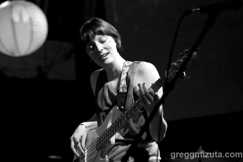 G1RLCR3W's bassist Melanie Radford at the Visual Arts Collective.<br />
