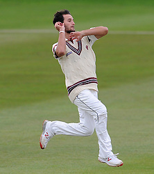 Somerset's Lewis Gregory - Photo mandatory by-line: Harry Trump/JMP - Mobile: 07966 386802 - 04/04/15 - SPORT - CRICKET - Pre Season - Day 3 - Somerset v Durham MCCU - Taunton Vale, Somerset, England.