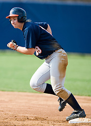Virginia Cavaliers OF Sarah Tacke (19) in action against UMD.  The Virginia Cavaliers softball team fell to the Maryland Terrapins 8-3 in the second game of a doubleheader at The Park in Charlottesville, VA on March 24, 2007.