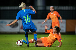 Kaja Eržen of Slovenia and Renate Jansen of Nederland  during football match between Slovenia and Nederland in qualifying Round of Woman's qualifying for EURO 2021, on October 5, 2019 in Mestni stadion Fazanerija, Murska Sobota, Slovenia. Photo by Blaž Weindorfer / Sportida