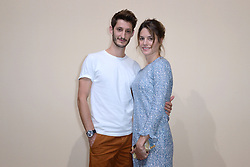 Pierre Niney and Natasha Andrews attending the Bonpoint Haute Couture Paris Fashion Week Fall/Winter 2018/19 held in Paris, France on july 04, 2018. Photo by Aurore Marechal/ABACAPRESS.COM
