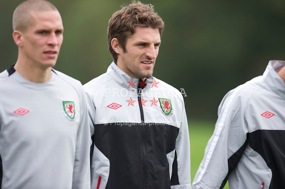 CARDIFF, WALES - Tuesday, October 5, 2010: Wales' Sam Ricketts during a training session at the Vale of Glamorgan ahead of the Euro 2012 qualifying Group G match against Bulgaria. (Pic by David Rawcliffe/Propaganda)