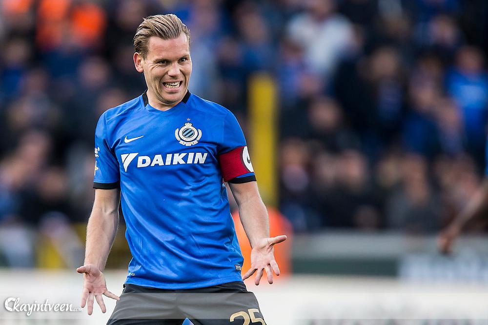 BRUGGE - Club Brugge - Zulte Waregem , Voetbal , Seizoen 2016/2017 , Jupiler Pro League Belgie Play-off 1 , Jan Breydel Stadion , 01-05-2017 , Ruud Vormer baalt van verloren bal