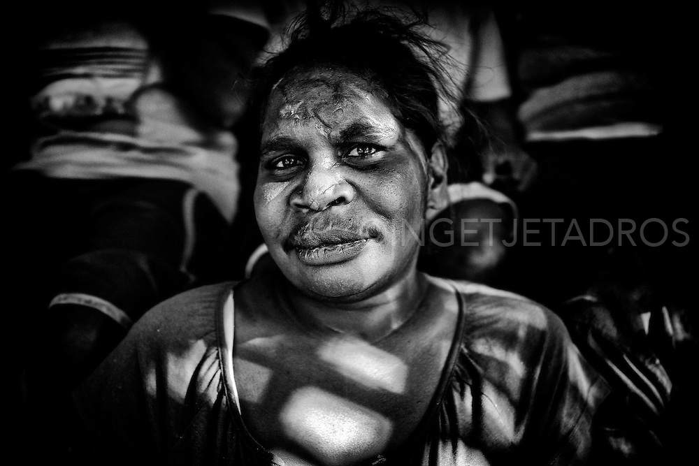 An Aboriginal woman is 45 times more likely to experience domestic violence than a white woman.<br /> Violence patterns are passed on from parents to their children. In Australia it takes police up to two years to respond to cases of domestic violence and take victims seriously. Broome, Western Australia &copy;Ingetje Tadros