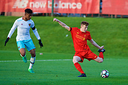 KIRKBY, ENGLAND - Friday, March 31, 2017: Liverpool's George Johnston in action against West Ham United during an Under-18 FA Premier League Merit Group A match at the Kirkby Academy. (Pic by David Rawcliffe/Propaganda)