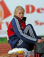 Friidrett<br /> EM U23 2007<br /> Debrechen<br /> 12.07.2007<br /> Foto: Hasse Sjögren, Digitalsport<br /> <br /> Trots regn och blåst så blev det ändå 4.15 och det med mersmak för Cathrine Larsåsen på junior-EM i Debrecen