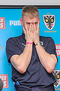 AFC Wimbledon goalkeeper Aaron Ramsdale (35) during the EFL Sky Bet League 1 match between AFC Wimbledon and Doncaster Rovers at the Cherry Red Records Stadium, Kingston, England on 9 March 2019.