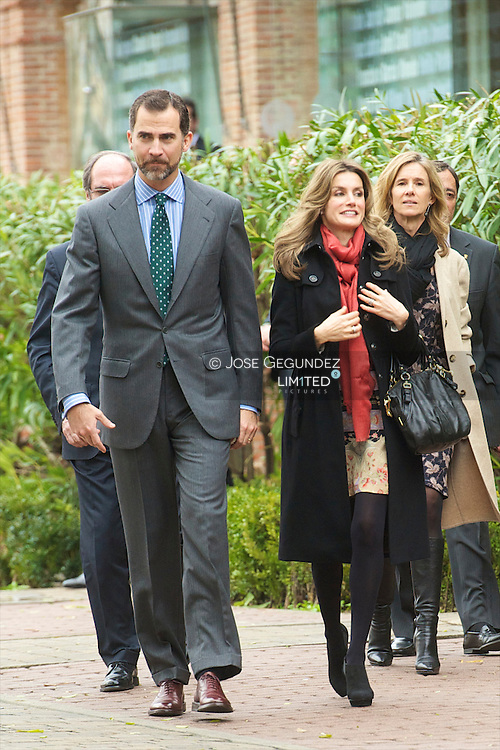 "Prince Felipe and Princess Letizia attend the Meeting of the Board of the Residencia de Estudiantes and visiting the exhibition Riders knowledge "" at Residencia de Estudiantes in Madrid"