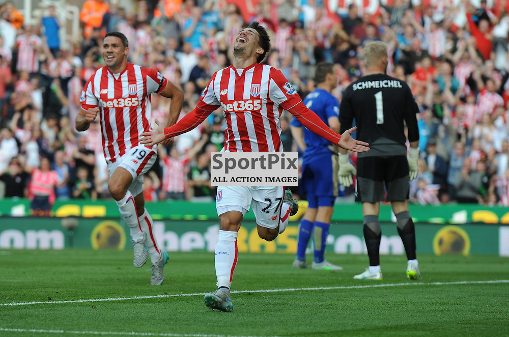Bojan turns away delighted after putting Stoke 1-0 up (c) Simon Kimber | SportPix.org.uk