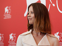 Mia Goth at the photocall for the film Suspiria at the 75th Venice Film Festival, on Saturday 1st September 2018, Venice Lido, Italy.