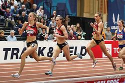 2020 USATF Indoor Championship<br /> Albuquerque, NM 2020-02-15<br /> photo credit: © 2020 Kevin Morris<br /> womens 1500m final, Bowerman TC, Nike,