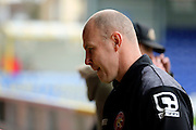 Walsall manager Jon Whitney walking down the tunnel during the EFL Sky Bet League 1 match between AFC Wimbledon and Walsall at the Cherry Red Records Stadium, Kingston, England on 25 February 2017. Photo by Matthew Redman.