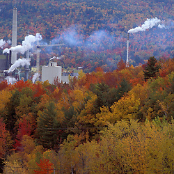 Rumford, ME. Boise Cascade paper mill.  Fall Foliage.  Northern Forest.