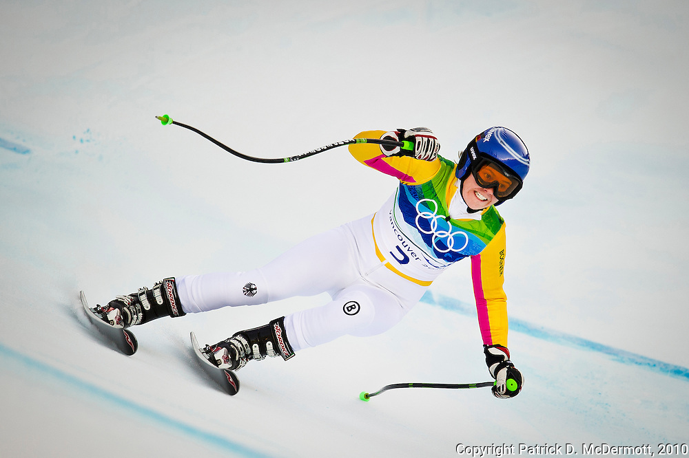 Viktoria Rebensburg, GER, competes in the Women's Super G during the 2010 Vancouver Winter Olympics in Whistler, British Columbia, Saturday, Feb. 20, 2010.