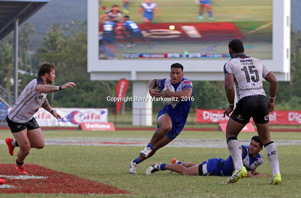 Fiji Bati defeated Toa Samoa 20-18 in an international rugby league test at Apia Park, Apia, Samoa.  Photo by Barry Markowitz, 10/8/16