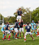 Josh Thomas Brown in action during the Green King IPA Championship Play-Off match between London Scottish &amp; Worcester at Richmond, Greater London on Saturday 2nd May 2015<br /> <br /> Photo: Ken Sparks | UK Sports Pics Ltd<br /> London Scottish v Worcester, Green King IPA Championship, 2nd May 2015<br /> <br /> &copy; UK Sports Pics Ltd. FA Accredited. Football League Licence No:  FL14/15/P5700.Football Conference Licence No: PCONF 051/14 Tel +44(0)7968 045353. email ken@uksportspics.co.uk, 7 Leslie Park Road, East Croydon, Surrey CR0 6TN. Credit UK Sports Pics Ltd