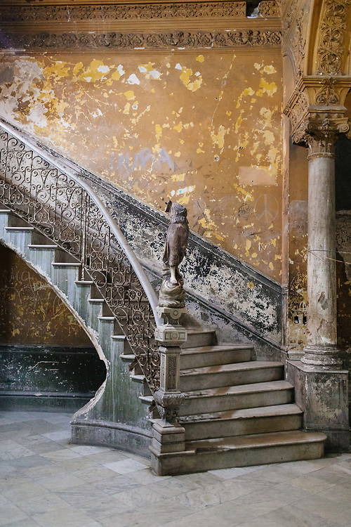 Stairway in worn down building in Old Havana, Havana, Cuba
