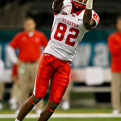 November 10, 2011; New Orleans, LA, USA;  Houston Cougars wide receiver Chance Blackmon (82) against the Tulane Green Wave at the Mercedes-Benz Superdome.  Mandatory Credit: Derick E. Hingle-US PRESSWIRE