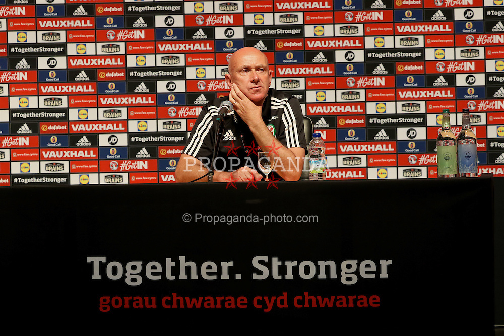 DINARD, FRANCE - Wednesday, June 22, 2016: Wales' head of pubic affairs Ian Gwyn Hughes during a press conference at their base in Dinard as they prepare for the Round of 16 match during the UEFA Euro 2016 Championship. (Pic by David Rawcliffe/Propaganda)